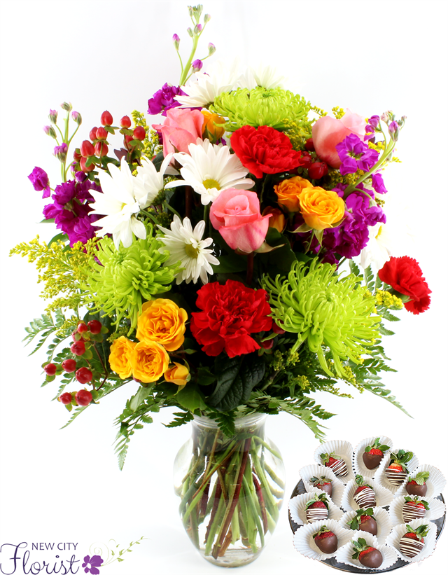 New City Florist Assorted Flower Vase