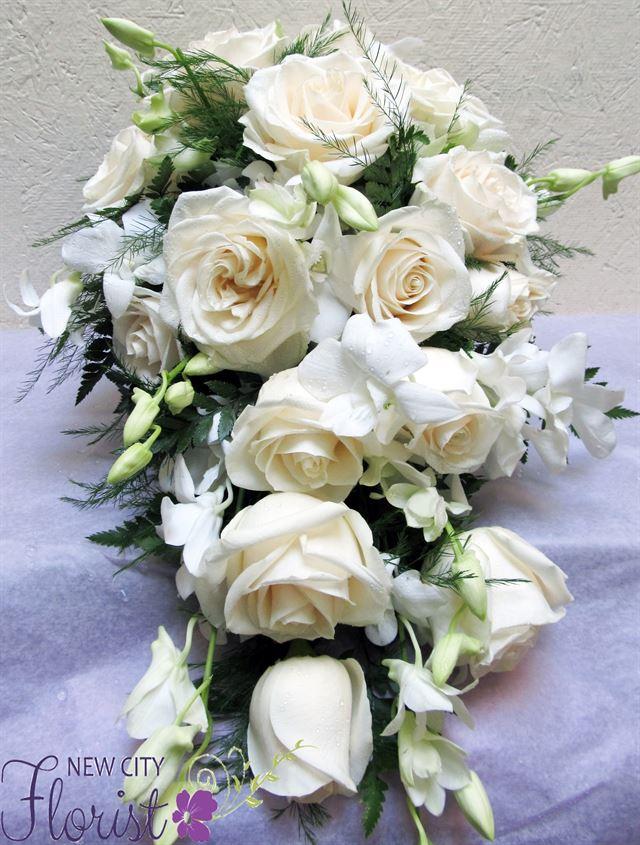 Cascading Calla Lily Bridal Bouquet