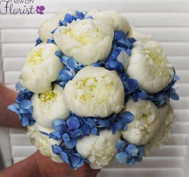 New City Florist > Peony and Hydrangea Bridal Bouquet